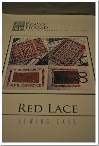 Red Lace Drawn Thread