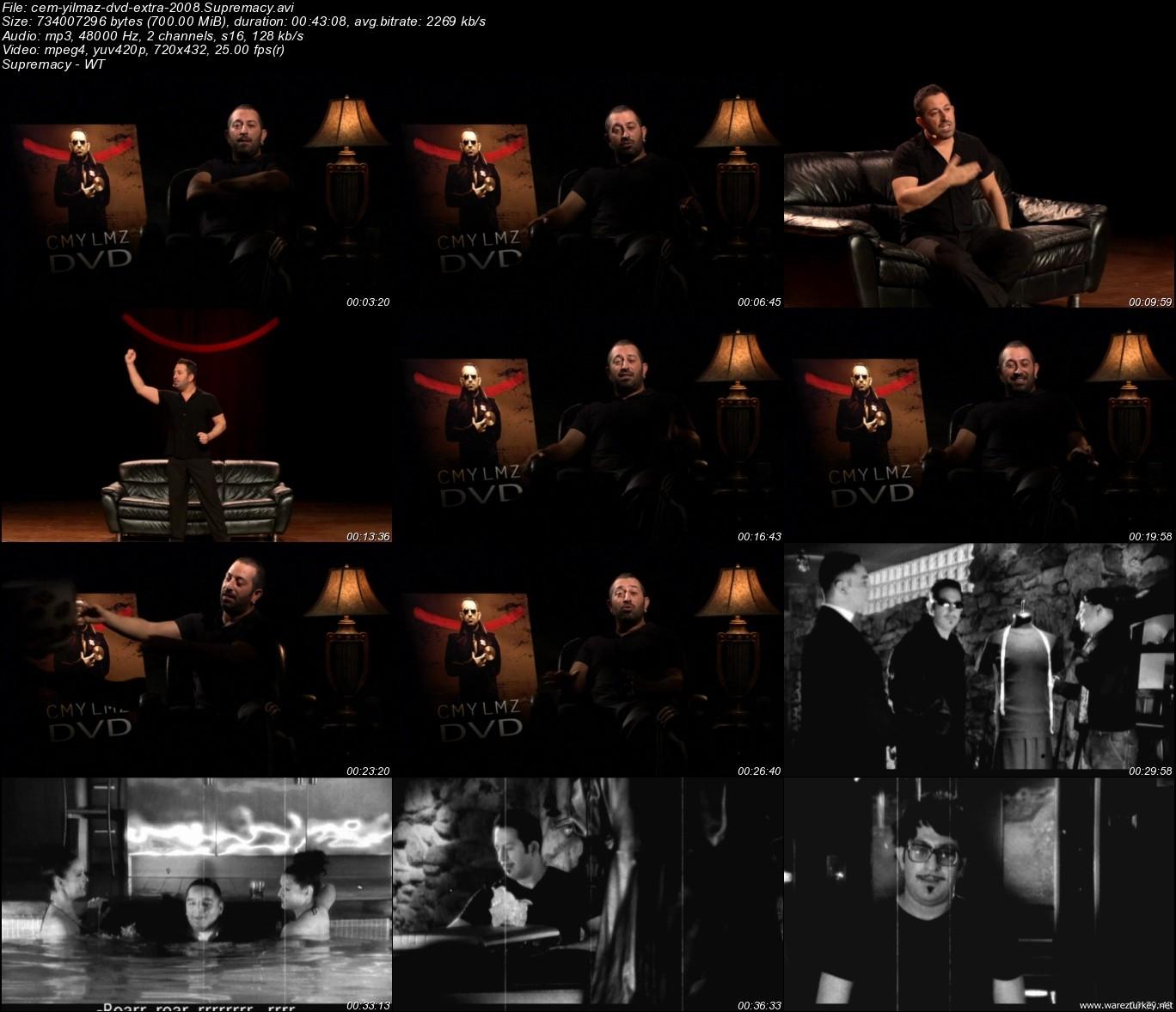 Cem Yılmaz 2008 DVDRip + DVD Ekstra indir