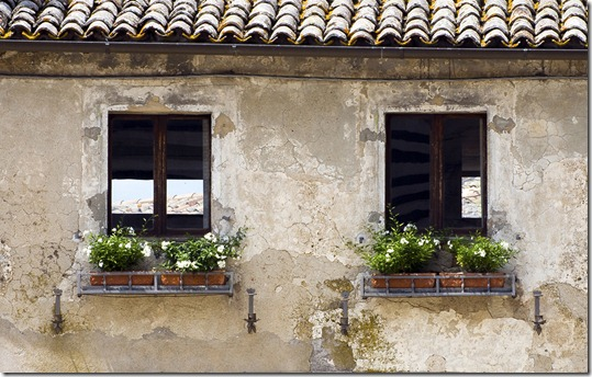 Windows of Orvieto in the ancient Umbrian city.. (c) 2011 Tom Kelly