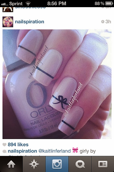 D0215a9c2848d9d67800f0d5fad1d279 Bow Design On Nails