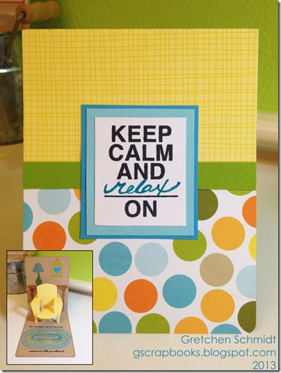 Keep Calm and Relax On with Chair Pop `n Cuts by @gscrapbooks