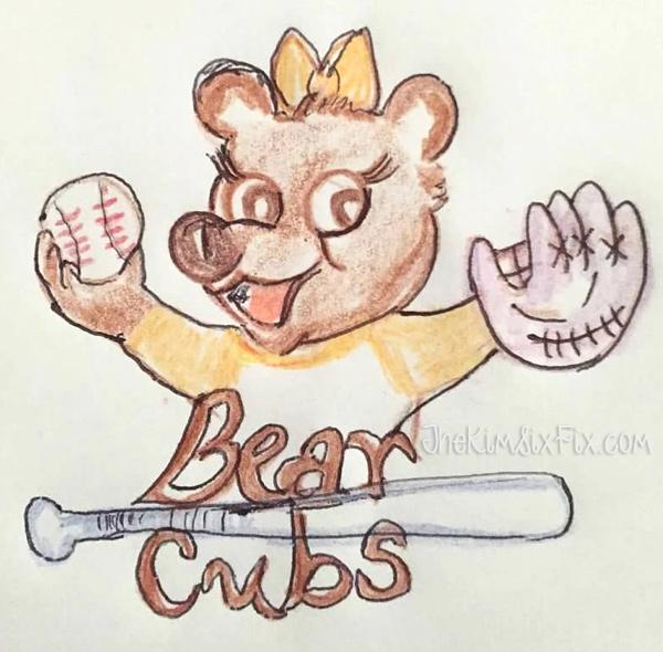 Bear cubs tball logo