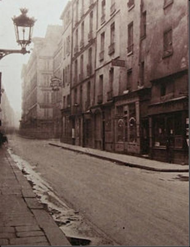 Eugène Atget Un coin, Rue de Seine DETAIL