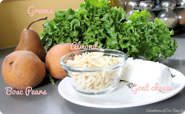 pear and goat cheese salad ingredients