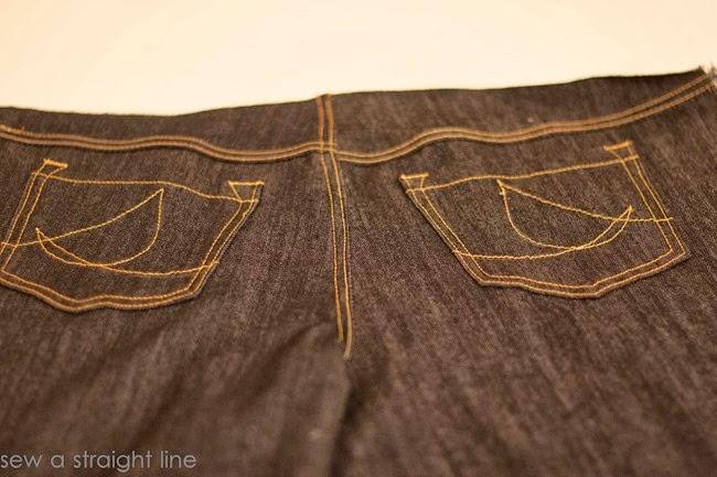 pockets flat felled seams jeans sew along sew a straight line-27