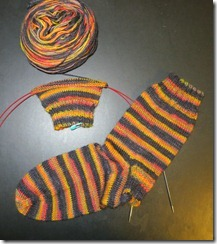 Goth Sock - Start of 2nd Sock
