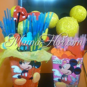 Como decorar los sorbetes de Mickey Mouse