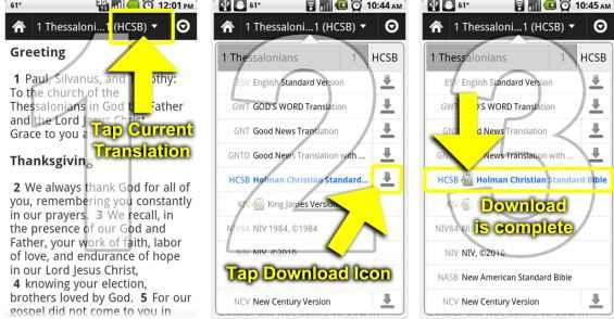 Descargar la biblia gratis para Android e iphone