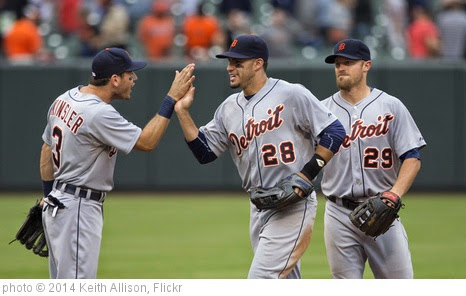 'Ian Kinsler, J.D. Martinez, Danny Worth' photo (c) 2014, Keith Allison - license: https://creativecommons.org/licenses/by-sa/2.0/