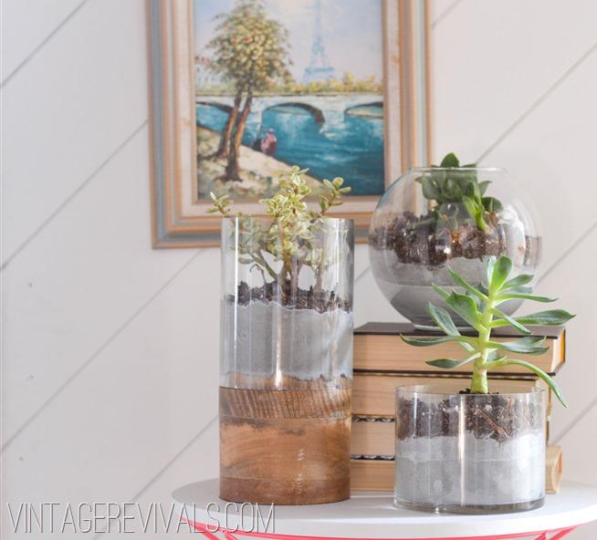 Concrete and Glass Succulent Planter vintagerevivals.com-6