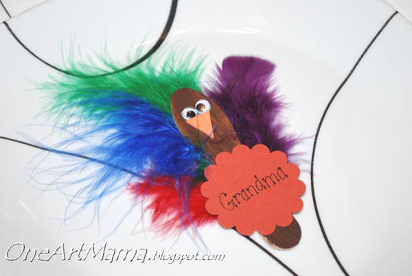 Turkey Place Card with Kids