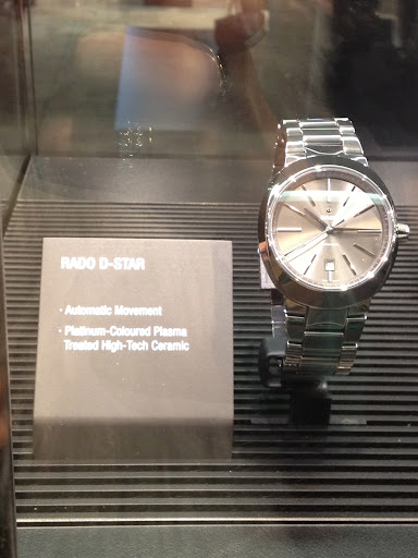 This style by Rado is actually ceramic! A nice, lightweight and durable option for men.