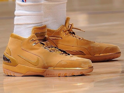 wearing brons nba lebron1 nick young wheat 01 Nick Young Wears the Wheat Nike Air Zoom Generation