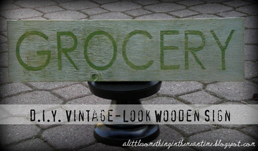 Vintage Sign DIY