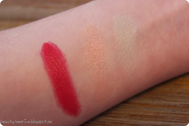 MAC is Beauty LE Kollektion Haul Einkauf Shopping Ausbeute Preening Bouffant Lidschatten Eyeshadow Lippenstift Lipstick Lippenstifte Diva-ish Swatch Swatches Review Lipsticks MAC 6
