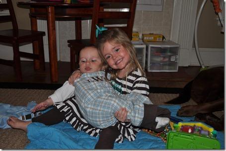 sibling pics and leighton crawling 021713 (3)