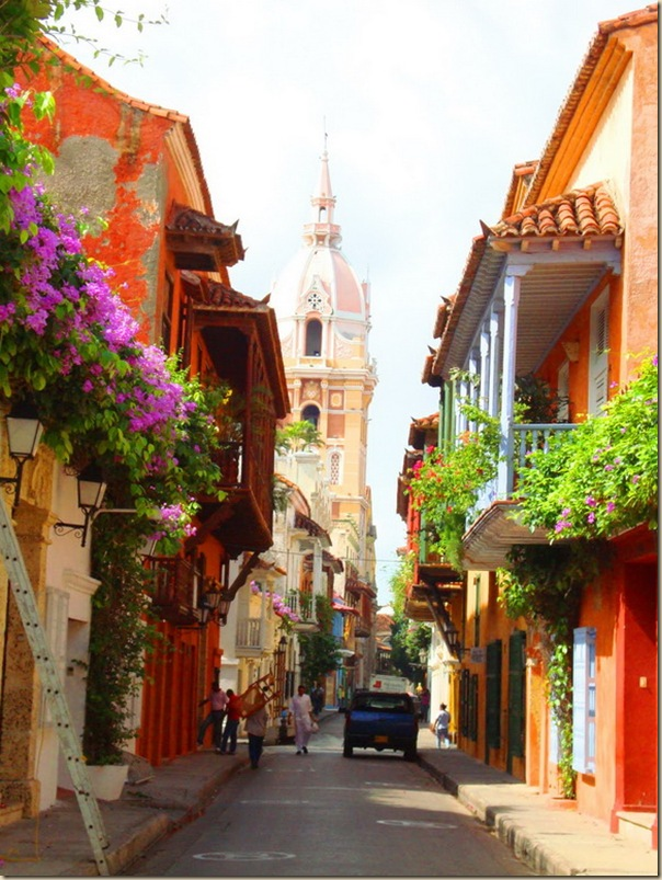 colorful cartagena street