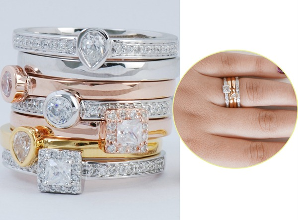 Collection for the Gemstone Stackable Rings