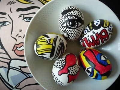 Easter Eggs Inspired by Lichtenstein from ArtClubBlog