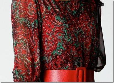 Karen Paisley Print Belted Chiffon Dress1