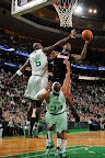 lebron james nba 130127 mia at bos 17 Boston Outlasts Miami in 2nd OT. LeBron Debuts Suede X PE!