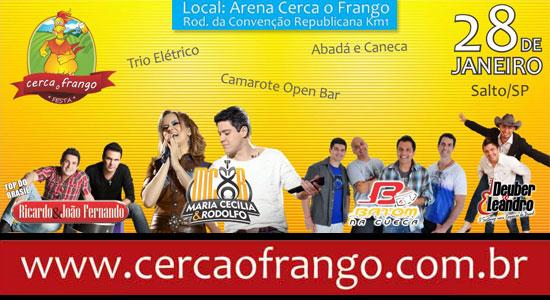 Festa Cerca o Frango 2012 - Dia 28 de janeiro