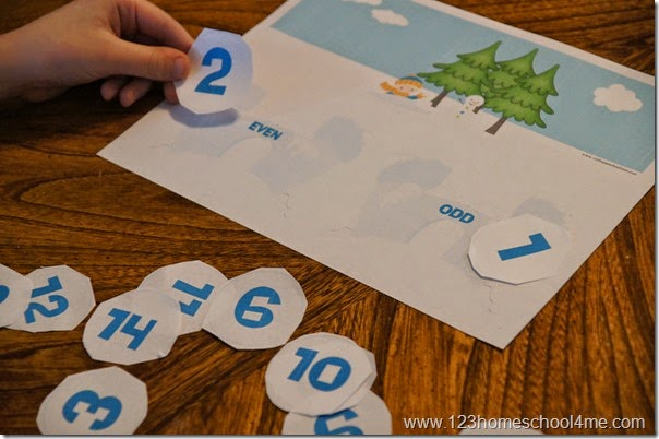 Practicing sorting even and odd numbers free printable for kindergarten 1st grade 2nd grade 3rd grade