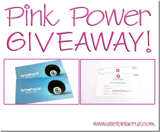 pink power giveaway