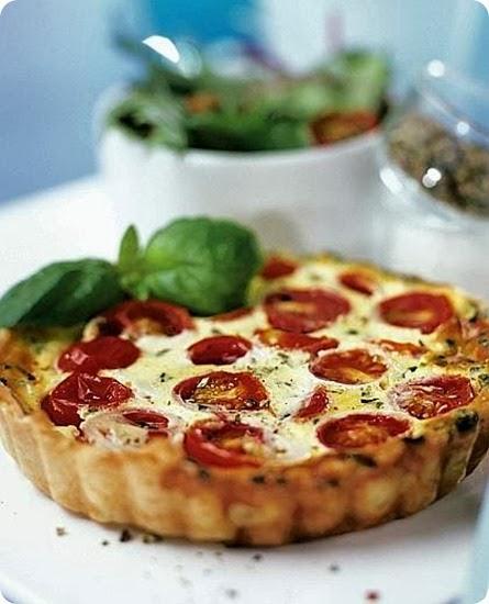 Tortino di pomodoro e formaggio al basilico