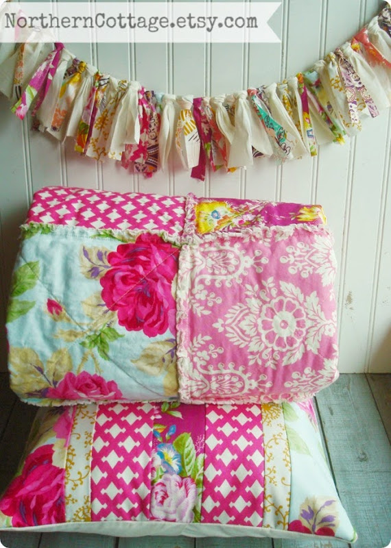 Quilts Garlands and Pillows {NorthernCottage}