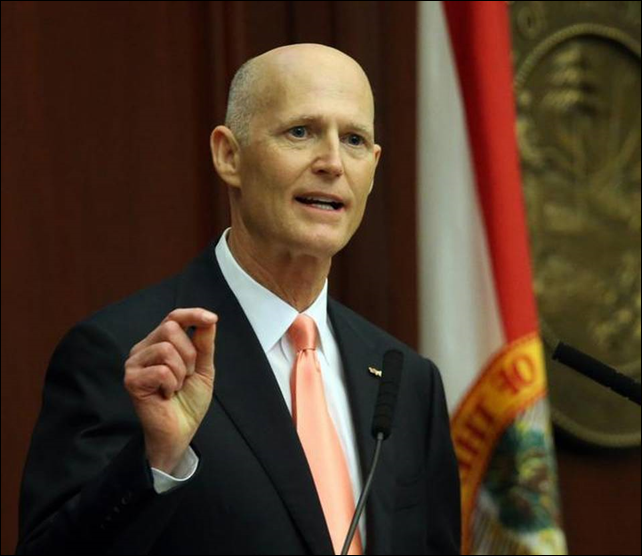 The unwritten policy against using the terms 'climate change' and 'global warming' went into effect after Florida Gov. Rick Scott took office in 2011. Gov. Scott has repeatedly said he is not convinced that climate change is caused by human activity, despite evidence to the contrary. Photo: Steve Cannon  / AP