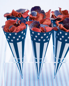 Patriotic Chip Cones