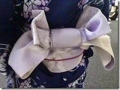 リビングカルチャー着付け練習も半巾帯を (5)