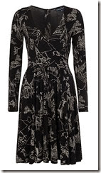 Anastasia Print Wrap Flare Dress