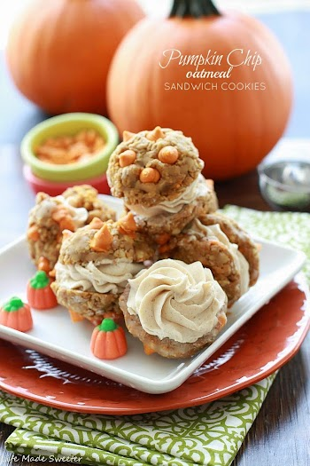 Pumpkin Chip Oatmeal Sandwich Cookies by Life Made Sweeter.jpg