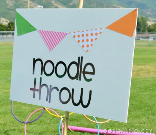 DIY Olympic Games Noodle Throw
