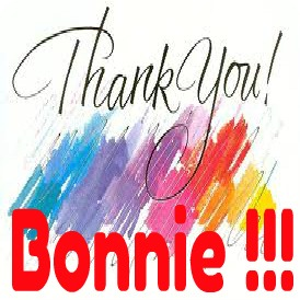 Thank you Bonnie