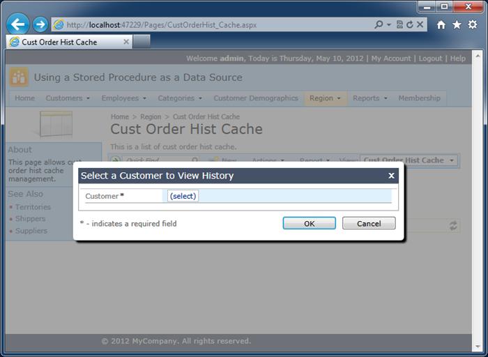 A modal confirmation data controller activate to confirma 'Search' action