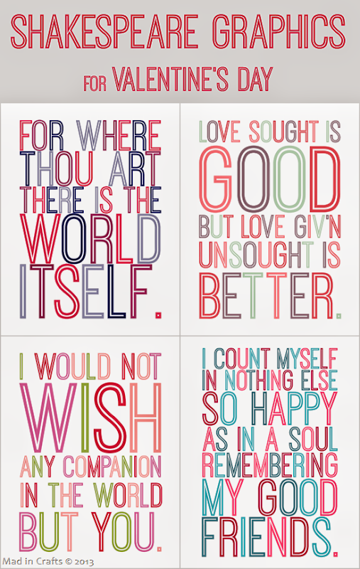 Free Shakespeare Graphics for Valentine's Day