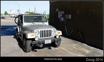 Jeep gets washed