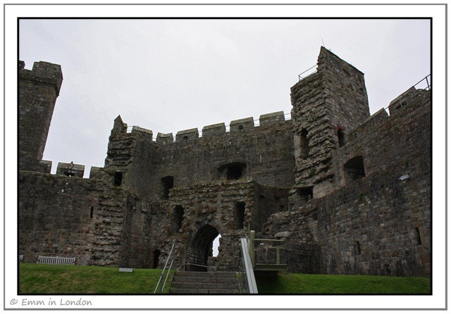 Approaching the Queens Tower in Caernarfon Castle