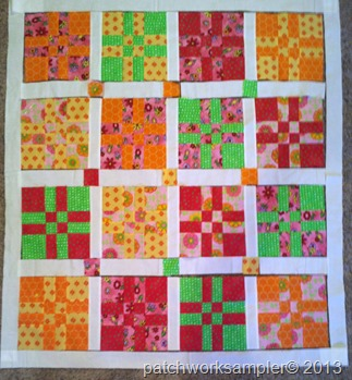 Design Wall Monday-Bright 4 into 9 patch