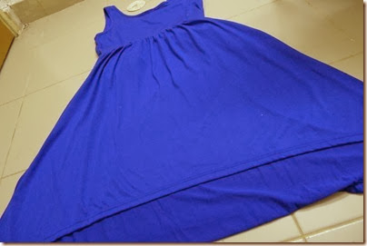 royal blue mullet dress
