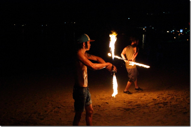Fire Pyrotechnics at Ko Phi Phi