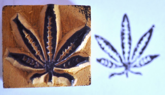 Wooden Block Weed Stamp