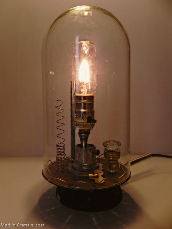 Anthro Inspired Inventor S Bell Jar Lamp Mad In Crafts