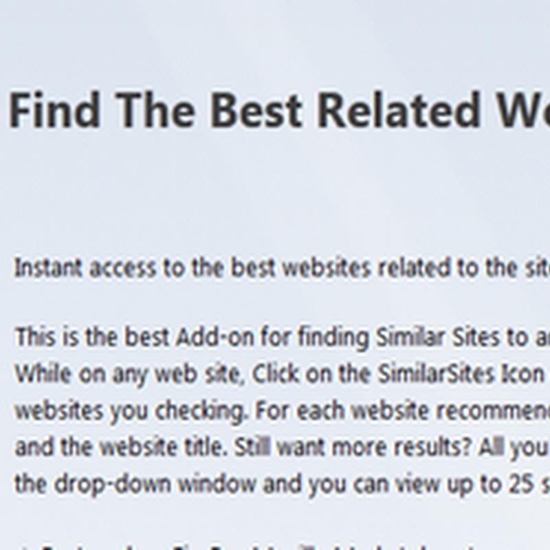 การค้นหาเวบไซต์ที่มีเนื้อหาคล้ายๆ กันบน Firefox