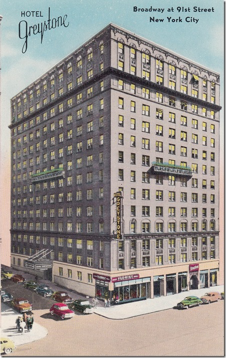 Greystone Hotel in New York - Vintage Postcard