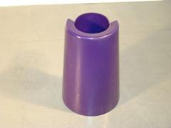 Enzo Mari Pago Pago vase, violet