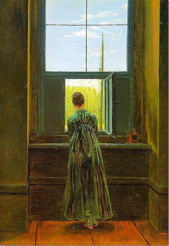 Caspar David Friedrich - Frau am Fenster, 1822